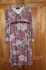 Girl Paisley Dusty Pink Maroon Off White A- Line Dress Guc 7