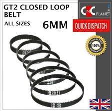 GT2 2M 2mm Pitch 6mm Width Closed Loop Synchronous Timing Belt for Pulley CNC 3D