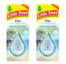 2 x Mirror CLIP Little Magic Tree Car Air Freshener OCEAN PARADISE Melon/Apple