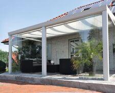 Gartenzimmer Poly 500x300 cm Überdachung Glas Schiebewände Bausatz weiß