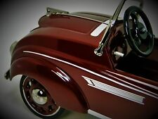 Rare Pedal Car Race Sport Hot Rod Exotic Vintage Metal Midget Model Maroon