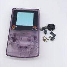 Funda Cubierta Protectora Púrpura con lente de dibujos animados para NINTENDO GBC Gameboy Color
