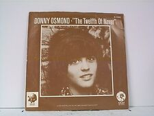 """DONNY OSMOND """"THE TWELFTH OF NEVER / LIFE IS JUST WHAT YOU MAKE IT"""" 45w/PS"""