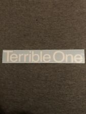 Terrible One - Large Barcode Bmx Frame Die Cut Sticker Decal - S&M Standard Fbm