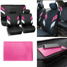 Neoprene Car Seat Covers For Auto Car Pink With Anti Slip Dash Mat Fits Jeep Cherokee