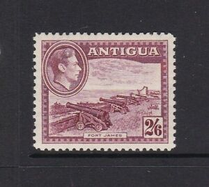 ANTIGUA 1942 KGVI 2/6d MAROON DEFINITIVE LIGHTLY HINGED MINT