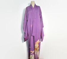 Vintage Lavender Silk Kimono Robe // Japanese Kimono // Vintage Floral Kimono