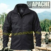 Apache ATS Soft Shell Jacket Technical Workwear Black Size M – XXL