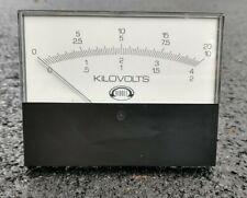 Dc Analog Voltmeter Panel Mount Kilovolt Scale Usa