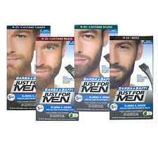 Just For Men Barba Colore Permanente Tintura Tinta Con Pennello Vari Colori 28g