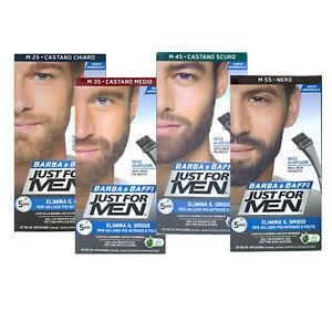 Just For Men Barba Colore Permanente Tintura Tinta Con Pennello Vari Colori 28g