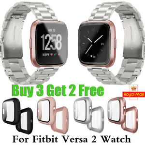 For Fitbit Versa 2 Full Shockproof Cover Screen Protector 9H TPU Case Watch UK