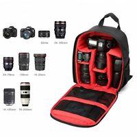 Camera Bag Backpack Waterproof DSLR SLR Rucksack For Canon Nikon Sony RE UK