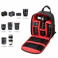 DSLR SLR Camera Rucksack Case Padded Bag Backpack For Canon Nikon Sony Olympus
