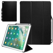 Apple iPad Pro 12.9 Case 2017 Pencil Slot Carbon Fiber Cover Stand Wake / Sleep