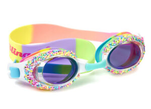 Girls multicoloured faux candy sprinkled swimming goggles