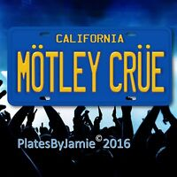 "Motley Crue Los Angeles California 35th Anniversary License Plate Tag 6""x12"""