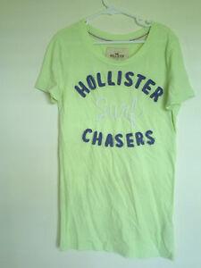 Hollister California Short Sleeve Sheer  Green T - Shirt Sz XS