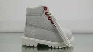 """TIMBERLAND TODDLER 6"""" PREM WATERPROOF BOOTS EXO WHITE TB0A1PKT BRAND NEW IN BOX"""