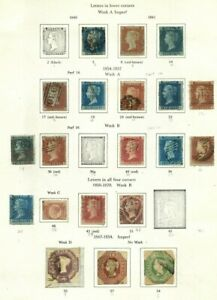 Early Great Britain used lot, 2p blue etc nice cancels etc. stamps