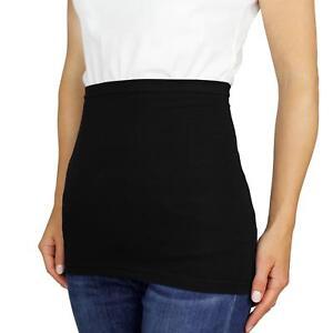 Damen Nierenwärmer Sporttube Baumwolle Shirtverlängerung Schwarz Weiß