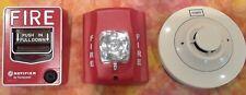 Honeywell Notifier Fire Alarm System Parts Pull Box Key Strobe Lite Wampwitho Horn