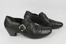 Court Shoes Trotters Rieker Black Leather T 41 Mint