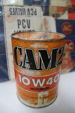 Vtg NOS Original CAM2 Motor Oil FULL Quart Can 10W-40 (Sunoco/Penske)