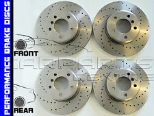 PEUGEOT 208 1.6 GTI FRONT and REAR PERFORMANCE DRILLED BRAKE DISCS BEARINGS ABS