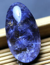 14.4ct Rare NATURAL Clear Beautiful Blue Dumortierite Crystal Pendant Polished