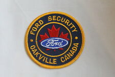 Canadian Ford Security Oakville Canada Police Patch