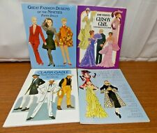 Vintage Tom Tierney Paper Doll Books Uncut Clark Gable, Gibson Girl,1930's Stars