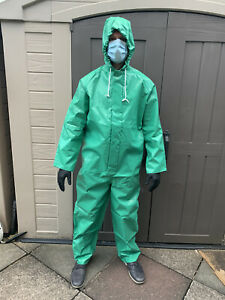 Protective PPE reusable Sioen Chemtex hazmat suit with hood- Free delivery