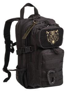 Zaino tattico militare nero 14 LT 23x20x38, US Assault Pack kids Ranger black