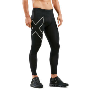 2XU Mens Run Dash Compression Tights Bottoms Pants Trousers Black Sports Running
