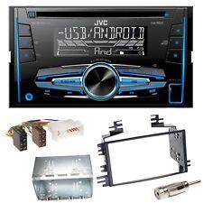 JVC KW-R520 Autoradio CD USB MP3 AUX Einbauset für Kia Sportage JE Rio JB