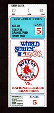 1986 WORLD SERIES TICKET STUB GAME 5 BOSTON RED SOX VS NEW YORK METS