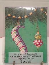 Package 6 Mary Engelbreit Christmas Notecards Letter S Christmas ornament ~New