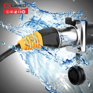 Waterproof Cat5e 8 Pin Adapter Socket Signal Industrial Ethernet RJ45 Connector