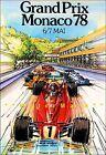 Monaco Grand Prix 1978 Car Race Vintage Poster Print Retro Car Racing Travel Art