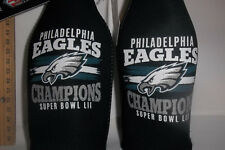 2 CT Bottle Zips NFL Super Bowl 52 Champions Philadelphia Eagles Zipper Holder