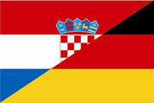 Fahne Flagge Kroatien-Deutschland Freundschaftsflagge 20 x 30 cm