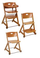 Restposten aus Ladenauflösung: Treppenhochstuhl 'Joker' von Roba, hellbraun Holz