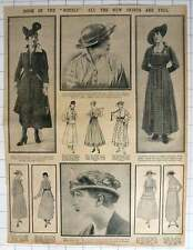 """1915 Doom Of The """"hobble"""": All The New Skirts Are Full"""
