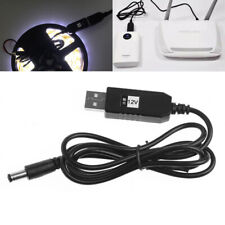 USB DC 5V To DC 12V 2.1x5.5mm Male Step-Up Converter Adapter Cable For Router