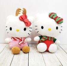 Ty Hello Kitty Sanrio Christmas Reindeer Antlers Girls Plush Toy Lot of 2