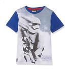 DISNEY t-shirt STAR WARS 4 6 8 ou 10 ans blanc bleu manches courtes NEUF