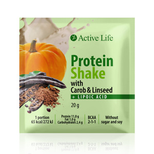 TIANDE Protein Shake with Carob & Linseed with sweetener 1PC 20G