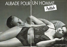 PUBLICITE ADVERTISING 044  1987  AUBADE pour un homme sous vetements  ( 2 pages)