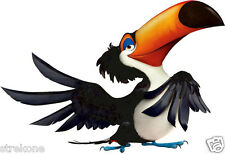 RAFAEL TOUCAN Colorful Exotic Bird of RIO Animated Movie - Window Cling Sticker